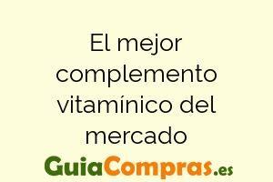 El mejor complemento vitamínico del mercado