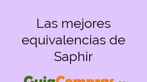 Las mejores equivalencias de Saphir