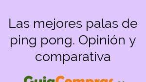 Las mejores palas de ping pong. Opinión y comparativa