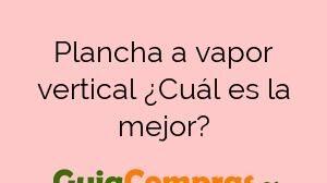 Plancha a vapor vertical ¿Cuál es la mejor?
